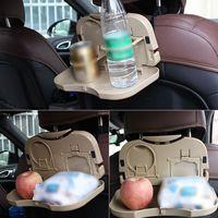 Samochodów tacy żywności stojak uchwyt na napoje podróży Foldtable biurko Seat powrót organizatorzy podróży akcesoria do montażu w Wsporniki fotela od Samochody i motocykle na