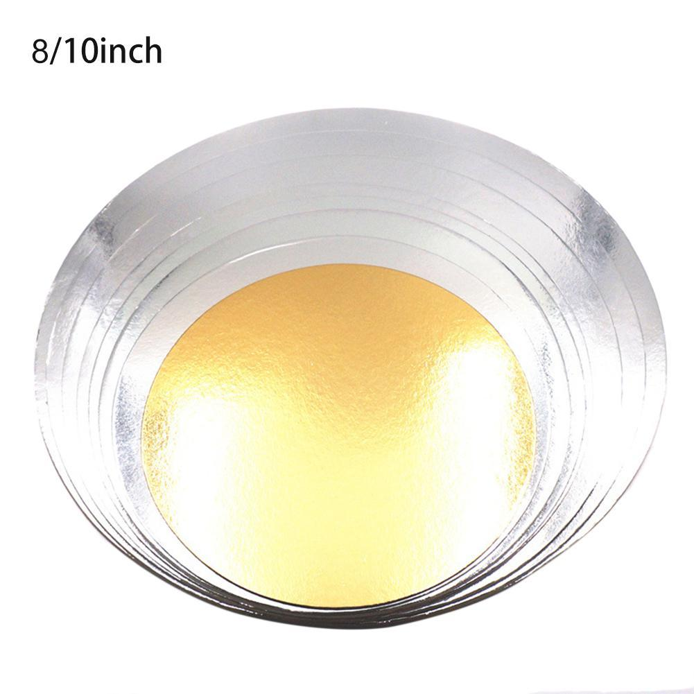 5Pcs 2.5 mm 3-10 Inch Gold Round Cake Board Circle Base Cupcakes Stand Paper Cases Liners Party Pastry Baking Mat Decorations