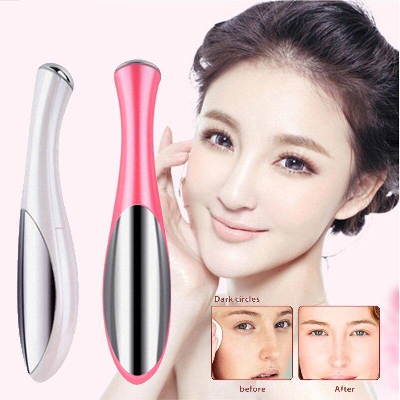 1PCS Mini Electric Eye Face Massage Vibration Anti-Ageing Wrinkle Dark Circle Pen Removal Rejuvenation Beauty Skin Care Pen