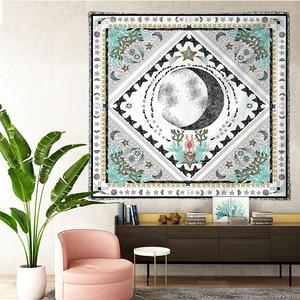 Image 4 - טארוט שטיחי שמש כוכב ירח תלוי שטיח היפי קיר תליית שמיכת קיר שטיח יוגה מחצלת בית תפאורה