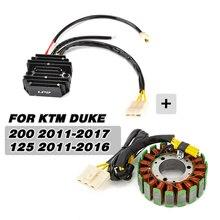 Motorcycle Generator Stator Coil+Voltage Regulator Rectifier Kit For KTM Duke 125 200 Duke 2011 2012 2013 2017 2015 2016