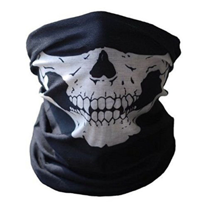 Festival Skull Masks Skeleton Magic Bicycle Ski Skull Half Face Mask Ghost Scarf Multi Use Neck Ghost Half Face Mask