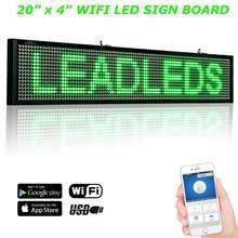 20 дюймов p5 wi fi прокрутка светодиодный знак дисплей панель