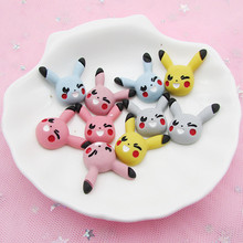 40pcs Baby Pikachu Pokemon Resin Mini LOL Clay Hair Rope Hair Ring Headwear Hairpin Accessories Jewelry Accessories Wholesale(China)