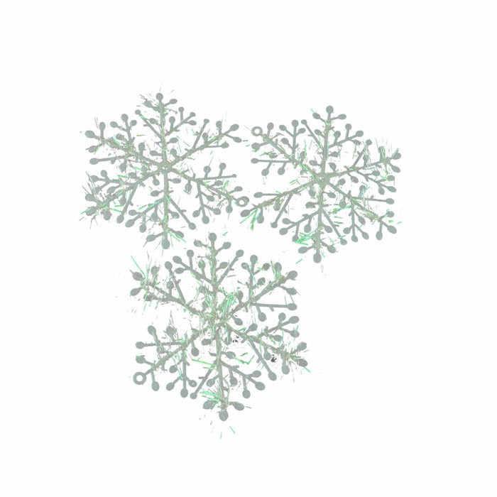 3pcs Christmas Tree Decoration Snowflakes 11cm White Plastic Artificial Snow Christmas Decor Home New Year Party Decor F822