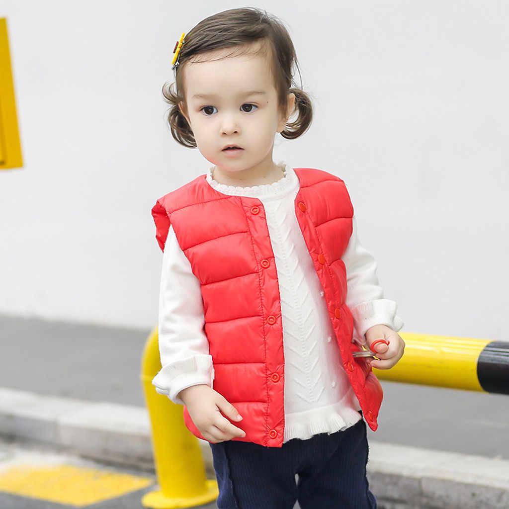 Niño niños bebé Grils sólido chaleco a rayas chaleco cálido prendas de abrigo Infantis niña chaleco niño chaleco Chaleco de bebé