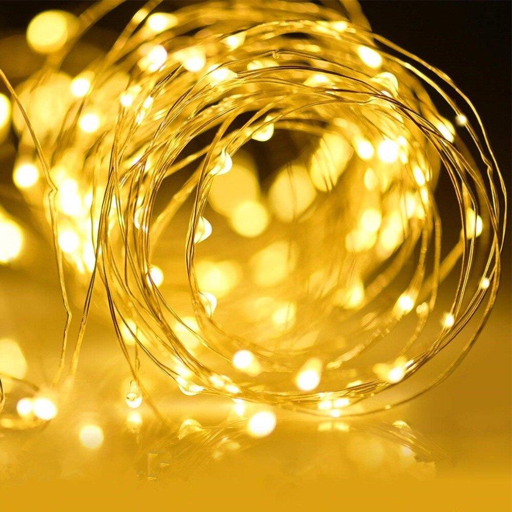 USB 5v Vacaciones hadas luces guirnalda en baterías LED cadena luces decoración Navidad al aire libre festón slingers malla de cortina DIY Hut vacaciones tiempo hecho a mano modelo creativo hecho a mano juguetes de construcción regalo de cumpleaños de las niñas