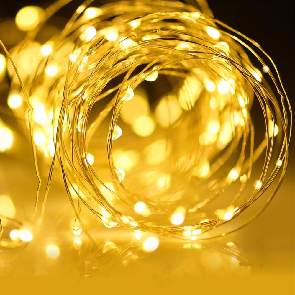 USB 5v Holiday fairy lights garland on batteries LED string lights decoration christmas outdoor festoon slingers curtain tinsel