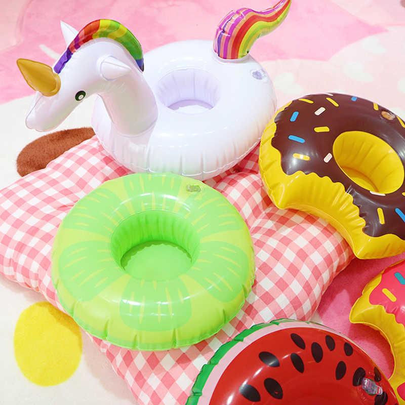 Luchtbedden Voor Cup Opblaasbare Flamingo Drankjes Bekerhouder Zwembad Drijft Bar Onderzetters Floatation Apparaten Roze