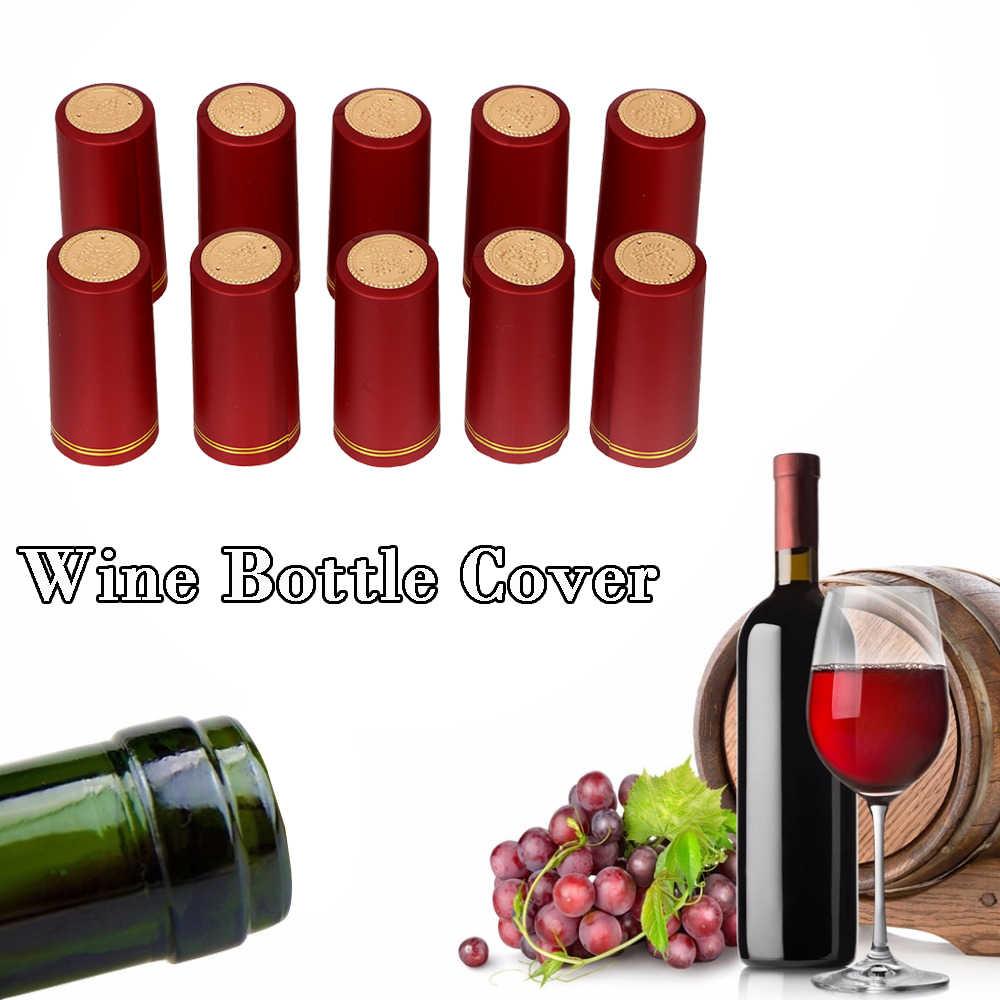 10 قطعة/الوحدة النبيذ غطاء زجاجة زجاجة نبيذ ختم برواري الاكسسوارات PVC الحرارة يتقلص كاب بار حزب إمدادات للمنزل تختمر