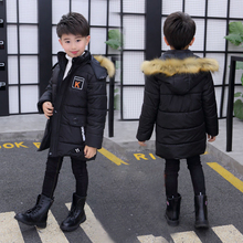 Children Down Jackets 2019 New  Warm Outerwear Hooded Kids Long Thick Winter for Boys Girls Coat