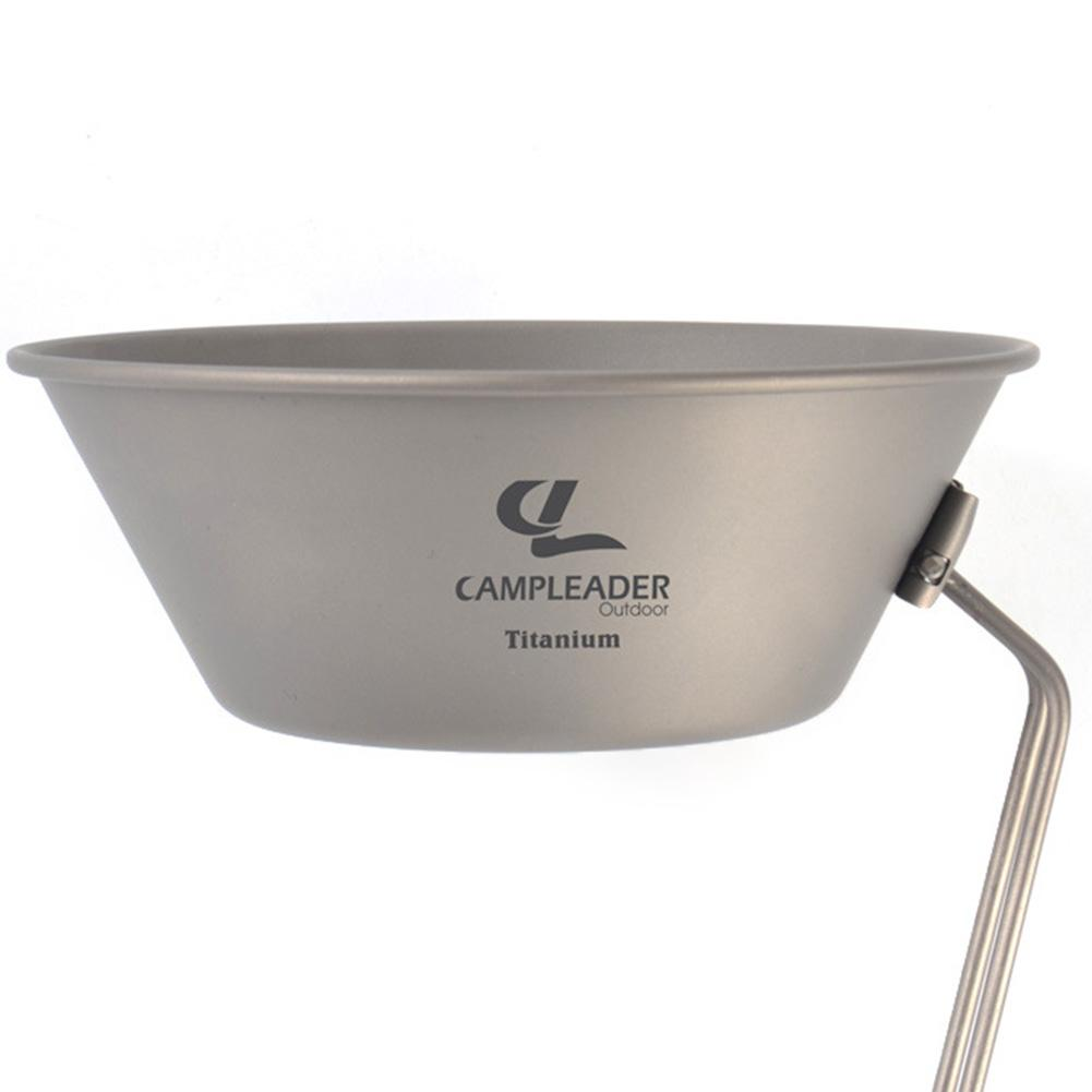 Ultralight Titanium Bowl Outdoor Foldable Handle Camping Cookware Folding Bowls Cookware Tableware Cutlery For Travel Hiking