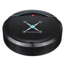 Robô aspirador de pó automático, limpador automático para casa elétrico recarregável varredura inteligente de sujeira de chão pó cabelo