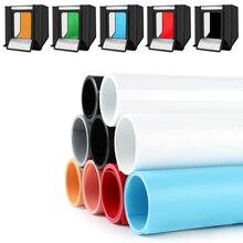 Caja de luz de fotografía almohadilla de fondo profesional tablero de fondo de PVC mate accesorios de disparo de estudio fotográfico Material impermeable