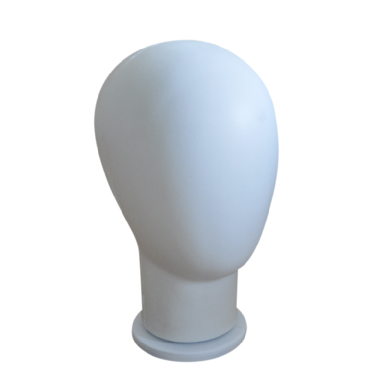 PU <font><b>Block</b></font> Head Foam Mannequin Head Wigs <font><b>Hats</b></font> Hairs Glasses Display Model Stand Black for Wigs Showcase Items Dummy Head image