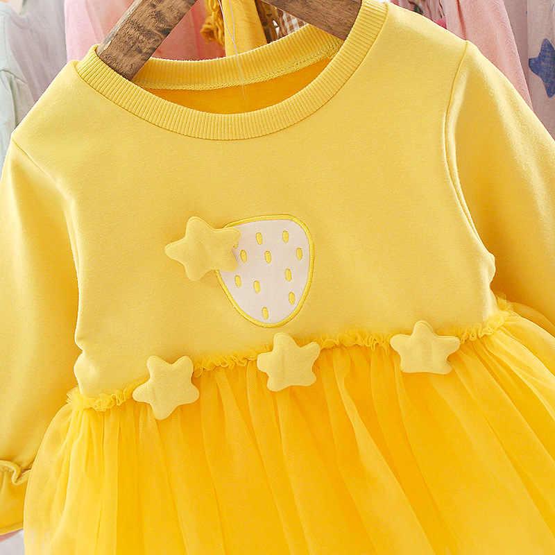 2019 סתיו יילוד תינוקת שמלת ילדה 1 שנה יום הולדת טוטו שמלת נסיכת תינוק שמלת תינוק בגדים פעוט שמלות