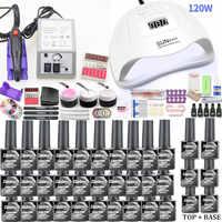 Gel Nagel Set 120W UV Lampe Nagel Trockner Für Maniküre Gel Elektrische Nagel Bohrer Für Nail art Nagel Bohrer maniküre Maschine Cutter Werkzeuge