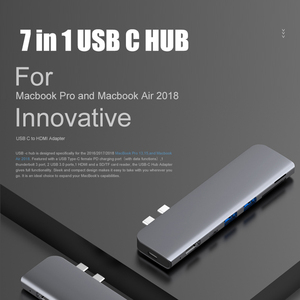 Image 2 - USB 3.0 Type C Hub к HDMI адаптеру 4K Thunderbolt 3 USB C Hub с Hub 3,1 TF SD Reader слот PD для MacBook Pro/Air 3,0 2018