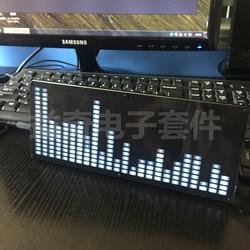 Большой 24 сегментный светодиодный музыкальный спектр, набор для производства электроники, дисплей уровня спектра, готовая продукция «сдел...