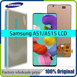 Image 1 - 100% süper AMOLED 6.5 Samsung Galaxy A51 LCD A515 A515F A515F/DS A515FD dokunmatik ekran çerçeve Digitizer meclisi