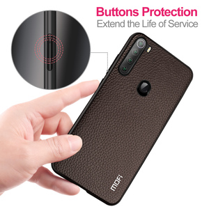 Image 3 - Cho Red Mi Note 8 T Ốp Lưng Tiểu Mi Mi Note8T Hiệu MOFI Ốp Lưng Silicone Chống Sốc Note8 T kính Capa Da PU Coque