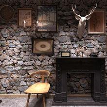 10 м водонепроницаемые каменные ретро обои для спальни гостиной