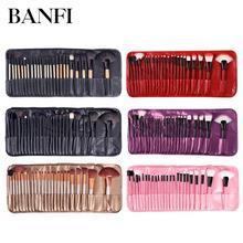 Набор кистей для макияжа, набор из 24 кисточек для пудры, основы для макияжа, больших теней для век, угловые кисточки для бровей, с сумкой, косметический инструмент для женщин