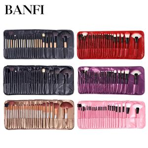 Image 1 - 24PCs Makeup Brush Set Powder Foundation Large Eye Shadow Angled Brow Make up Brushes Kit With a Bag Women Beauty  Cosmetic Tool
