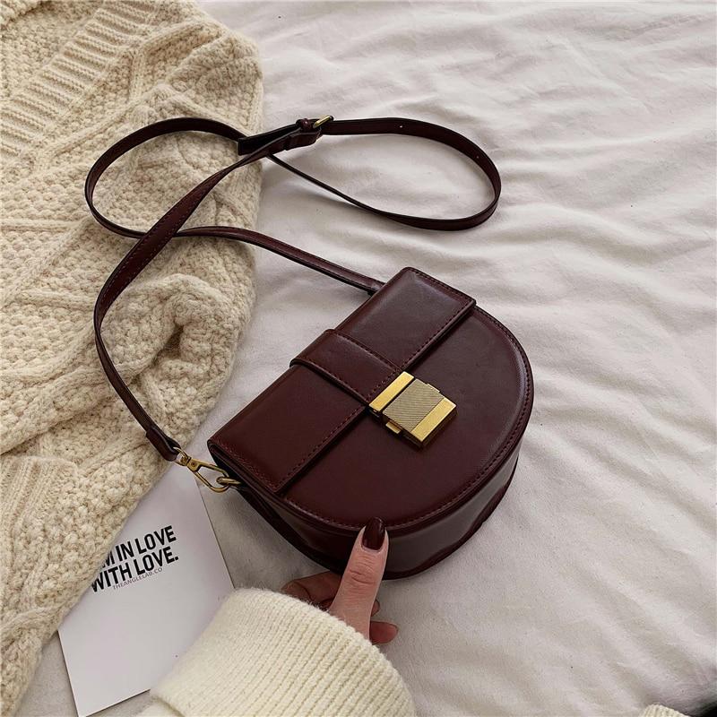 Solid Color Pu Leather Crossbody Bags For Women 2019 Shoulder Messenger Bag Lady Travel Handbags