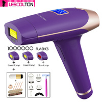 LESCOLTON 4IN1 Laser Hair Epilator LCD Display Depilador Permanent Hair Removal Device Laser Home 1000000 Light Pulses Epilator
