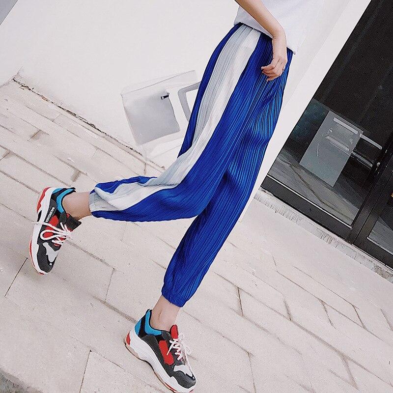 Harem   Pants   Women's   Capri   Summer Thin Loose-Fit Baggy   Pants   Casual   Pants   Pleated Hong Kong Flavor CHIC   Pants   Chiffon Harem   Pants