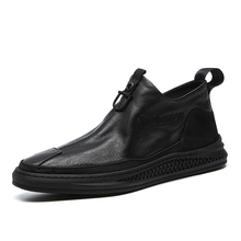 Buy 2019 autumn and winter men's shoes winter men's shoes men's plus velvet warm casual shoes fashion men's ankle boots black directly from merchant!