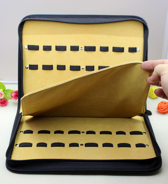 Professional Hairdressing Scissors Kit 16 Scissors Bag Clutch Bag Pet Scissors Kit