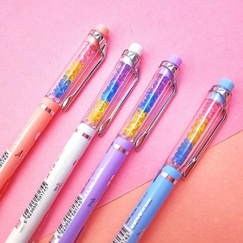 0.5/0.7mm Kawaii Automatic Pencil Cute Rainbow Diamond Mechanical Pencil For Kids Girls Gifts School Office Stationery Supplies