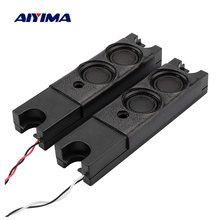 Alto-falante aiyima portátil 2 peças, 3w, unidades passiva, alto-falante diy, mp3 player de música, amplificador de som, mini alto-falante em casa teatro