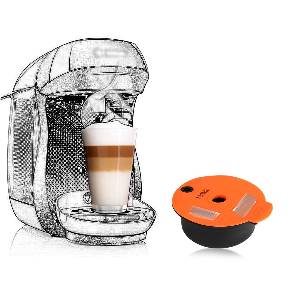 Многоразового использования Кофе капсула для Bosch-1 Tassimo-2 машина богатый Crema чайник