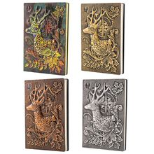 купить Creative Deer Embossed A5 Leather Notebook Journal Notepad Travel Diary Planner Book School Office Supplies в интернет-магазине