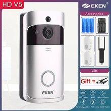 EKEN V5 Smart Doorbell WIFI Video IP Video Intercom Door Phone Door Bell WIFI Doorbell Camera IR Alarm Wireless Security Camera
