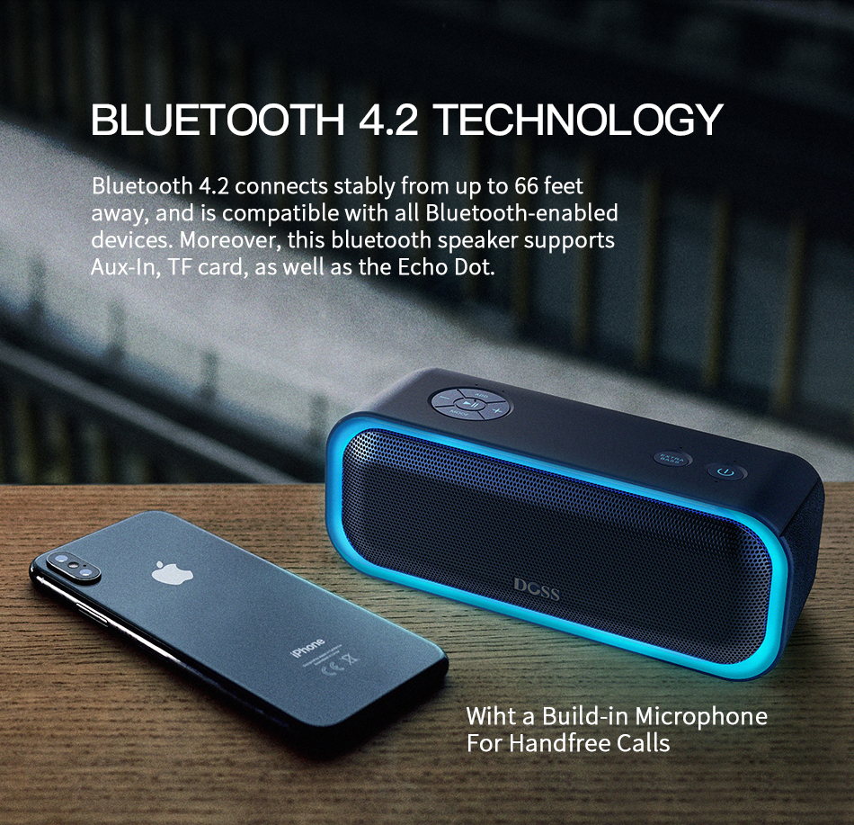 Doss DS BT10 Pro Wireless Bluetooth Stereo Speaker 8