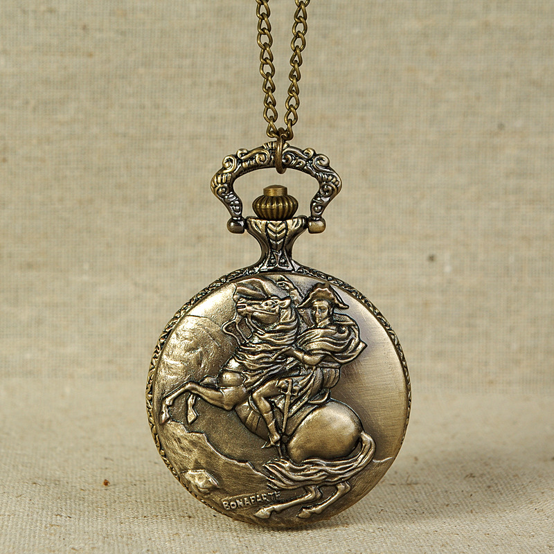 8845Large Prince Riding Pocket Watch Classic Retro One Horse First Pocket Watch Factory Direct