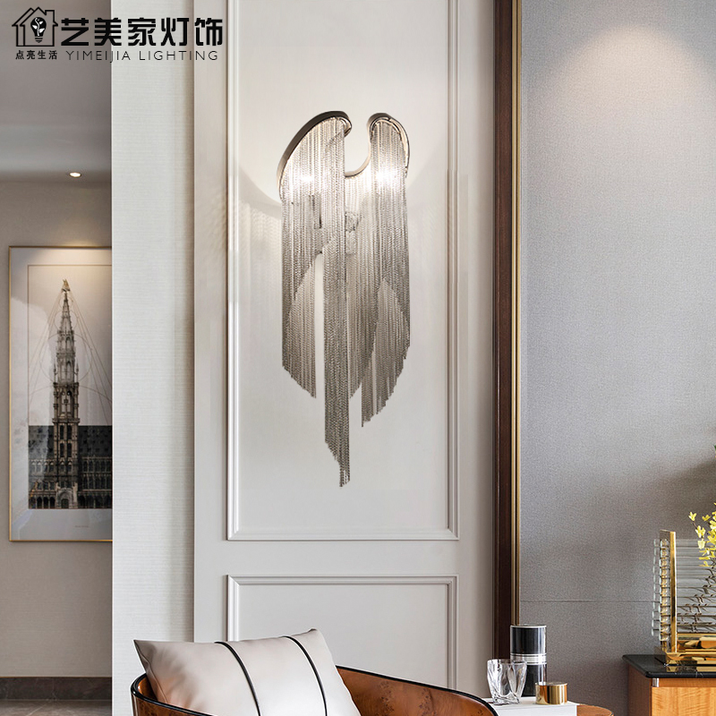 Postmodern Light Luxury Wall Lamp Bedroom Bedside Bedroom Subi Wall Lamp Industrial Wind Metal Hotel Simple Wall Lamp|LED Indoor Wall Lamps|   - title=
