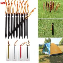 10pcs 18cm Thick Tent Pegs  Accessories Alloy Nails Adjusted Outdoor Hiking Camping Tools