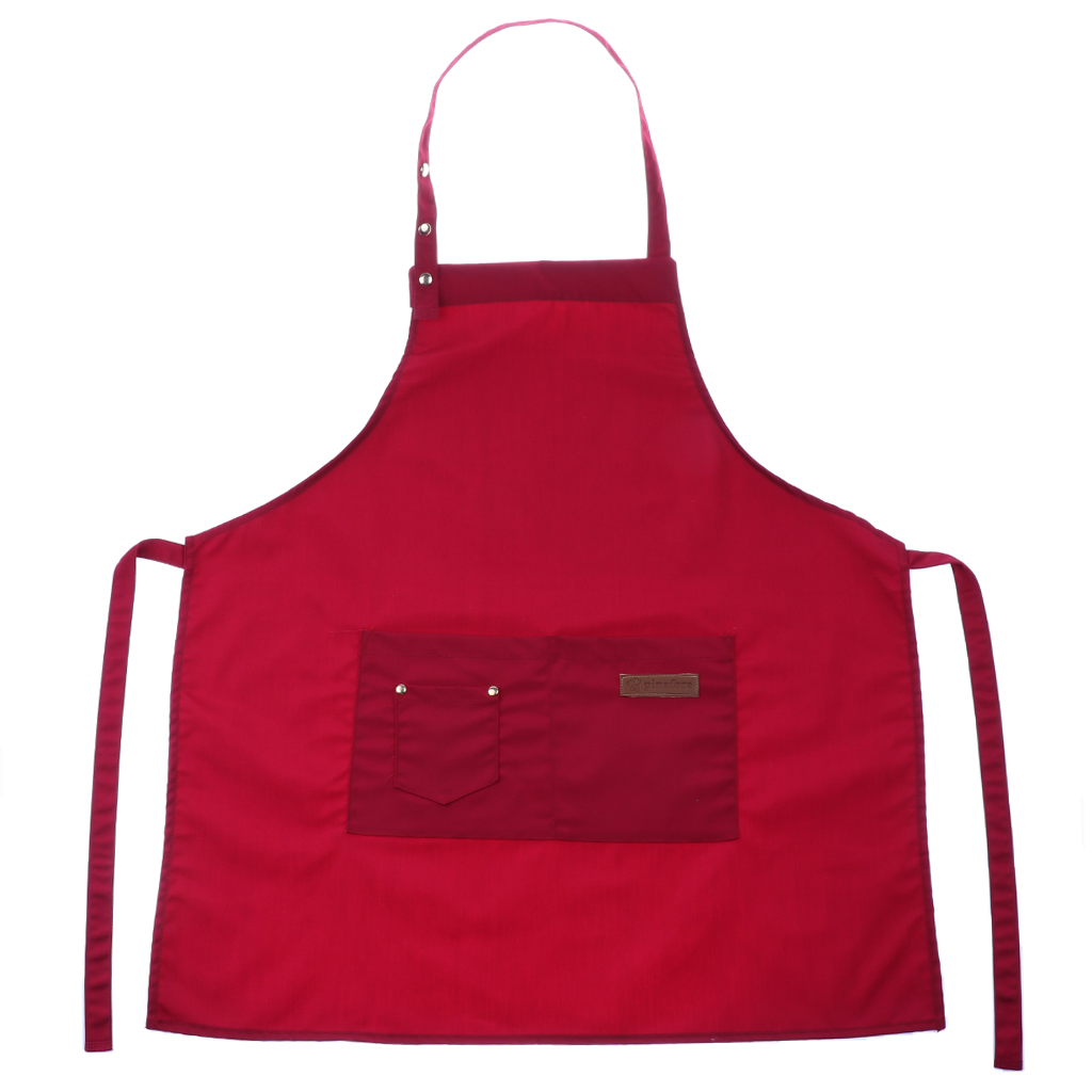 Womens Mens Aprons Stylish Cooking Aprons With 2 Front Pockets Durable And Adjustable For Kitchen Crafting BBQ Drawing Baking