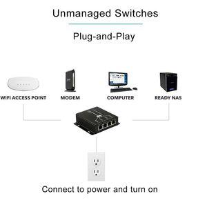 Image 5 - Extension PoE 4 ports IEEE802.3af, transmission Max 120m, pour caméra IP