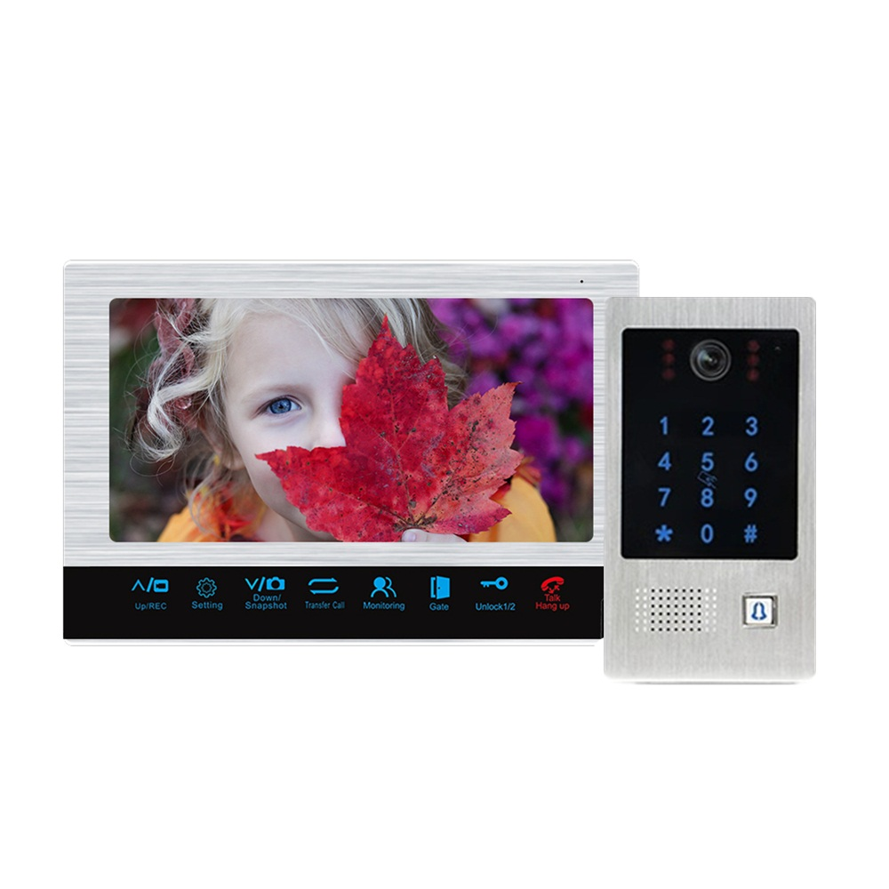 Dragonsview  10 Inch VideoDoor Phone Doorbell with Camera Unlock Password RFID Card
