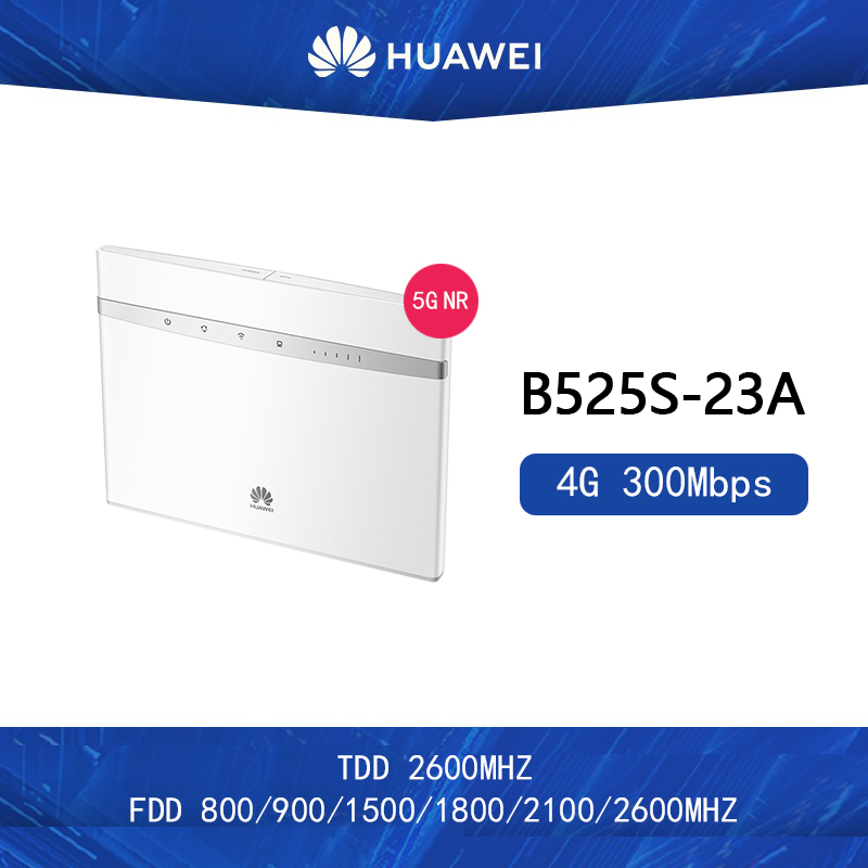 Unlocked Huawei B525s-23a 300Mbps 4G LTE Advanced CAT6 Wireless AC 1000M LAN Wifi Router Free 2pcs Antenna