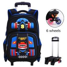 2020 Trolley school bag orthopedics schoolbags for Boy Girl