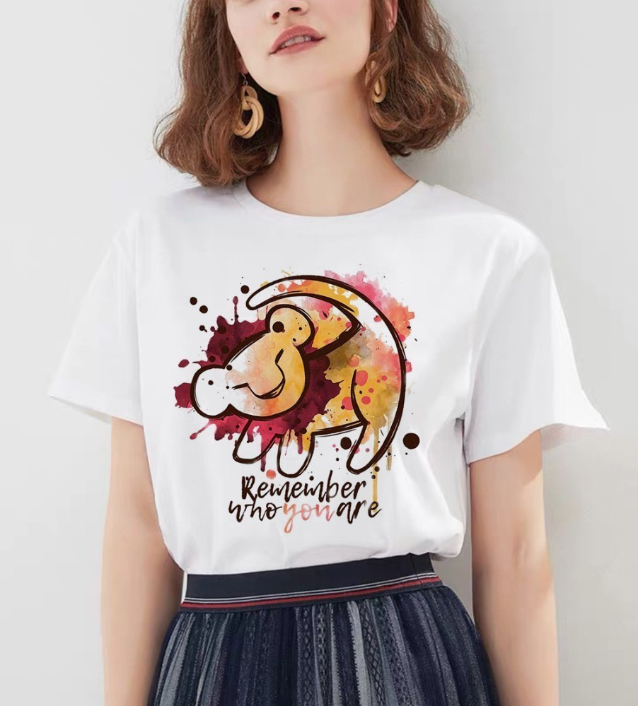 <font><b>Hakuna</b></font> <font><b>Matata</b></font> <font><b>Lion</b></font> <font><b>King</b></font> Printed Homme Hot Selling Hot Selling Summer Women's Fashion T-shirt image