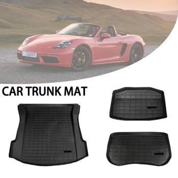 Car Rear Trunk Storage Mat Trunk Mats Customized Cargo Tray Trunk Dirt Proof Waterproof Protective Pads Mat For Tesla Model 3 фото