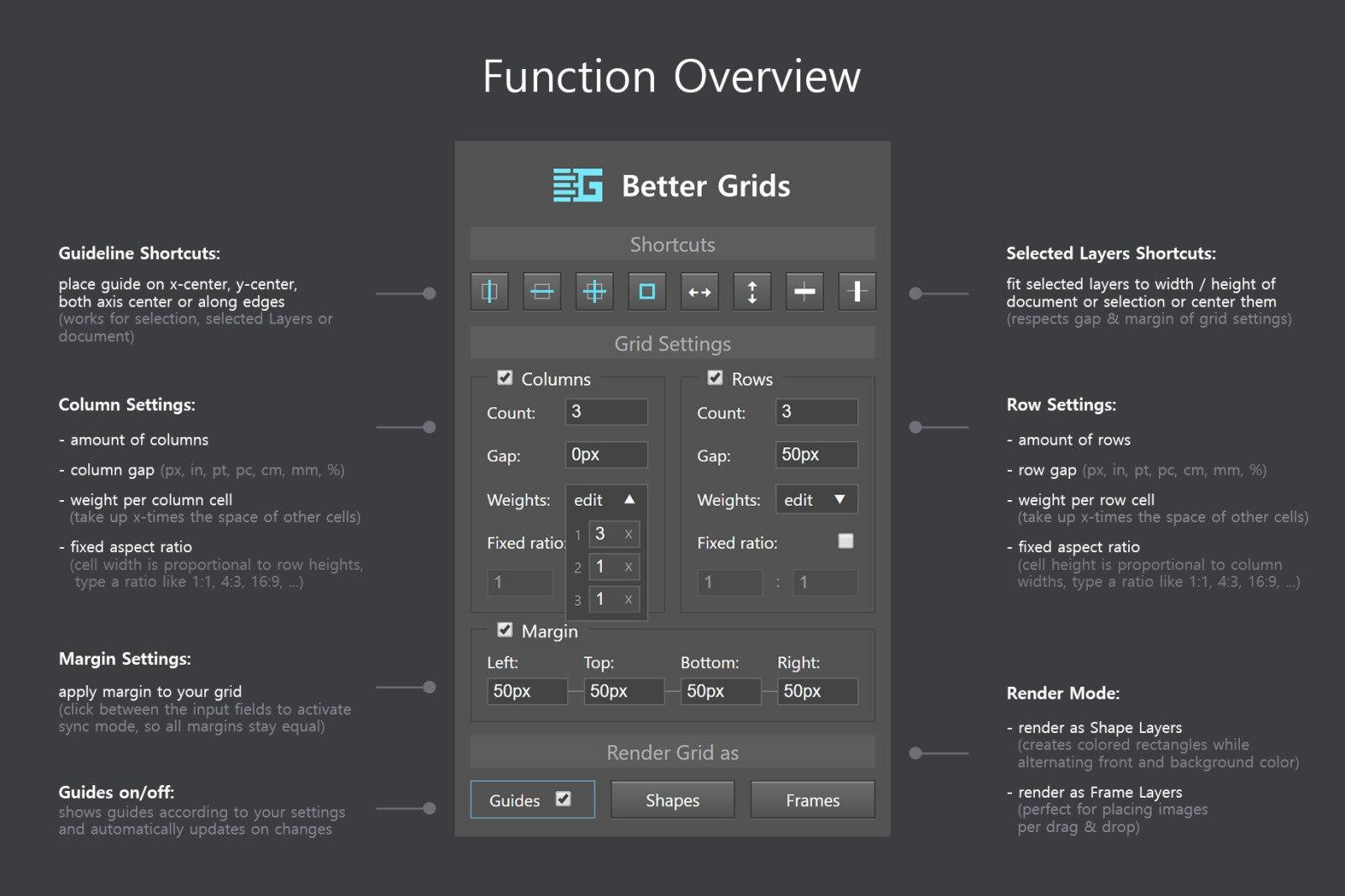软件插件-PS扩展面板 网格布局创建插件Better Grids – Layout Creation Kit(6)